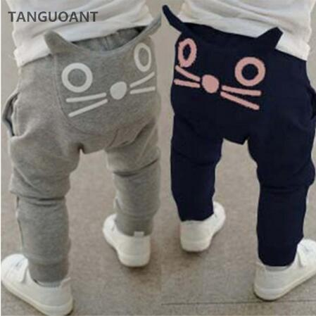 JIMMYBABY Retail hot sale spring and autumn kids clothing boys girls harem pants cotton owl trousers baby pants