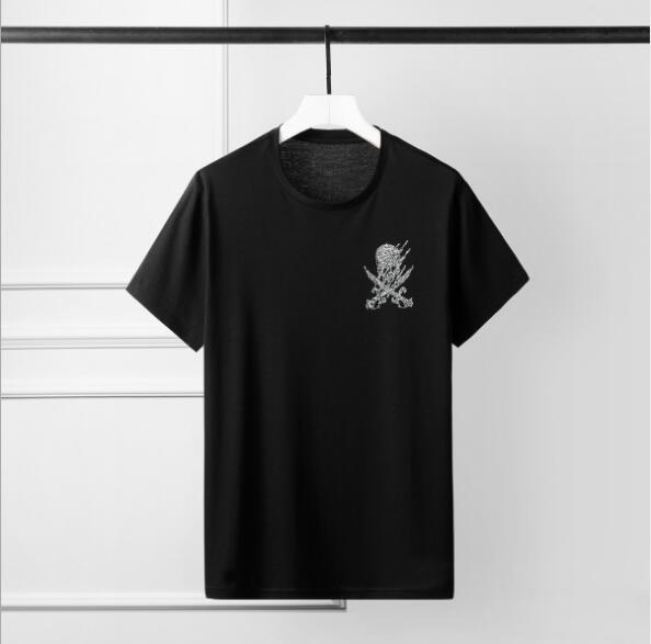 2020 Yaz kısa kollu alev kafatası kafatası sıcak sondaj gelgit marka erkek tişört moda fabrika doğrudan tedarik istiridye