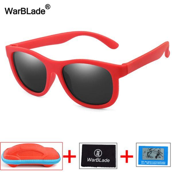 Дети солнцезащитные очки TR90 мальчик девочка дети поляризованные солнцезащитные очки силиконовые безопасности детские детские оттенки UV400 очки Oculos с футляром