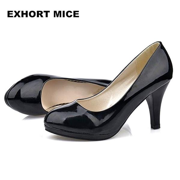 2019 Dress Large size 34 -42 Super High Women Shoes Pointed Toe Pumps Dress High Heels Boat Wedding Shoes Increase Waterproof platform