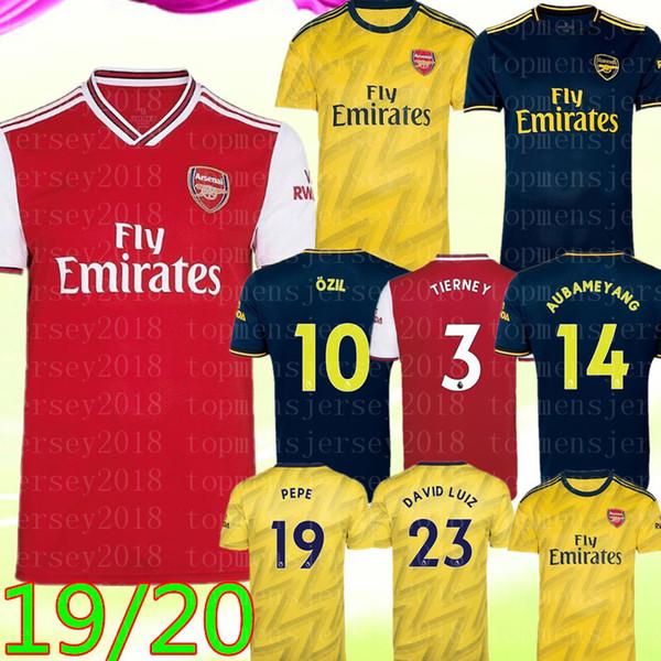 19 20 kits de futebol ARSEN NICOLAS CEBALLOS HENRY camisa de futebol TIERNEY O Z I L # 10 P E P E # camisa 19 futebol