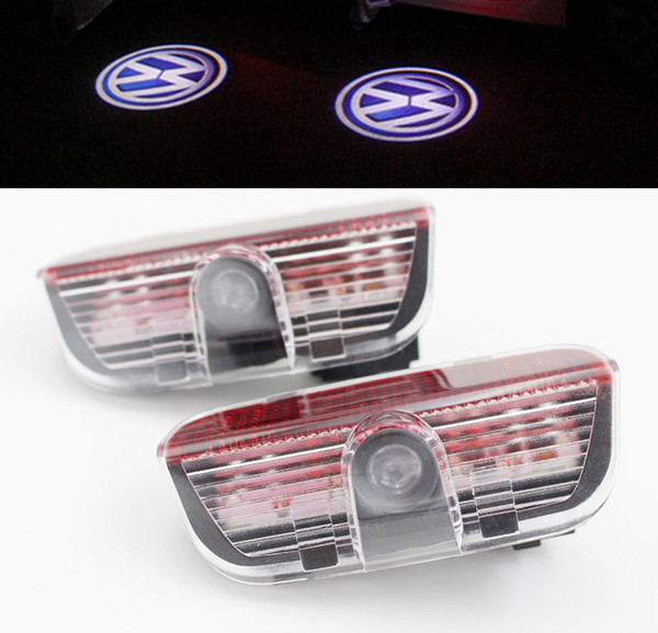 led car door light For Volkswagen VW Golf 5 6 7 Tiguan Touareg Jetta MK5 MK6 CC Passat B6 B7 Sharan Scirocco EOS welcome Warning Projector