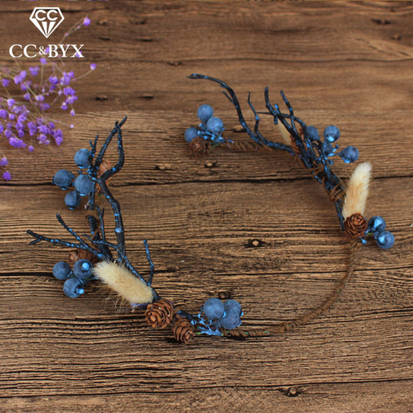Cc Wedding Jewelry Crown Garland Hairbands Forest Style Engagement Hair Accessories For Bride Seaside Flower Fruit Shape Mq038 J 190430
