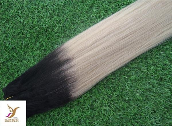 T1 / 22 Farbe brasilianisches glattes Haar Bundles 100% unverarbeitetes brasilianisches reines Haar glattes Haar Weben 1 Bundles 10-30 Zoll