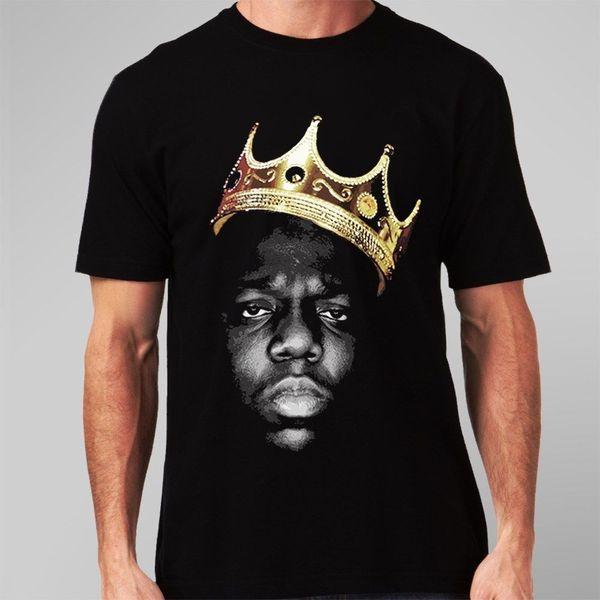 The Notorious BIG Biggie Smalls Mens T-Shirt Big Hip-Hop Golden Crown Retro