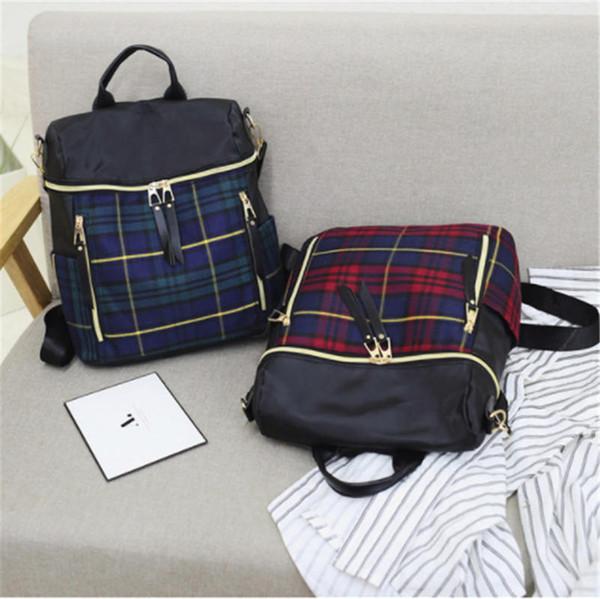 31daef6872e9d Sıcak Yeni Varış Moda Okul Çantaları İngiltere Stil Yüksek Kalite Öğrenci  Sırt Çantası tasarımcı Çift Omuz Çantaları