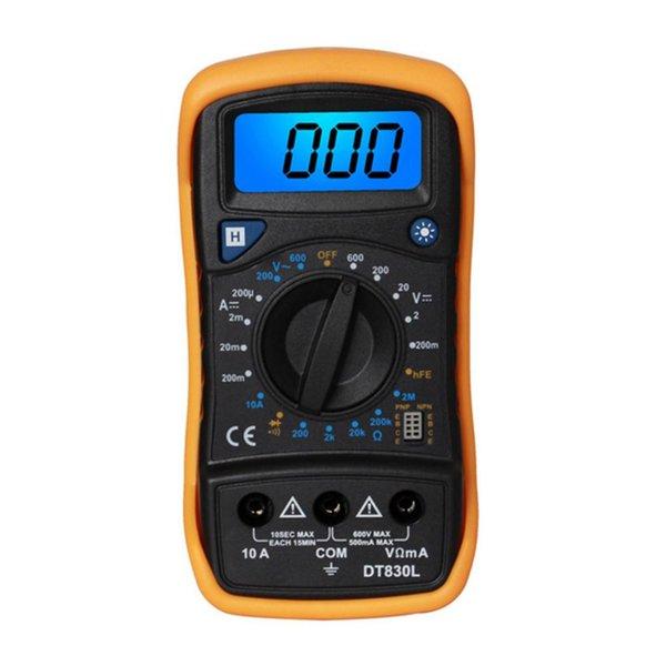 LCD Digital Multimeter Ammeter Voltmeter Ohmmeter Electric Handheld Multitester AC / DC Voltage Tester Diagnostic Tool