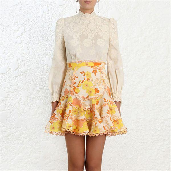 2019 primavera mujeres de la vendimia de dos piezas trajes ola de volantes sólido de manga larga blusa estampado floral volantes elegante mini faldas