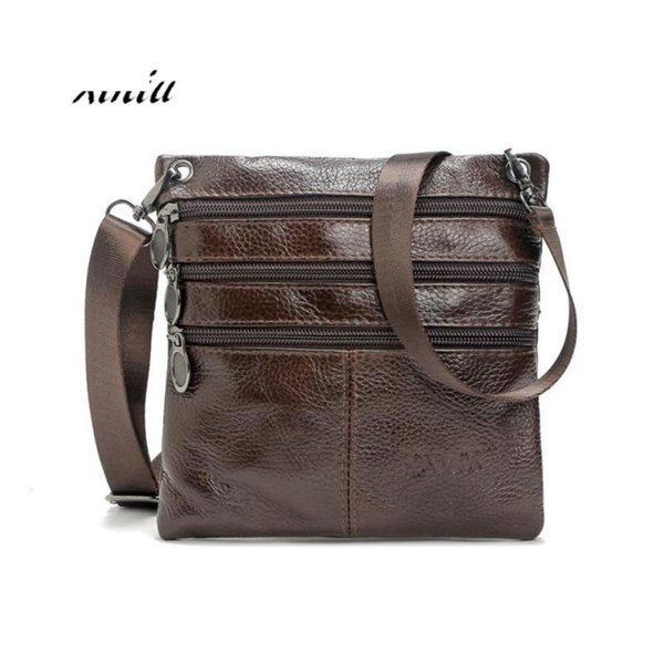 Men Leather Messenger Bag Male Business Postman Bags High Quality Causal Travel Crossboby Shoulder Bag Phone Money Pouch