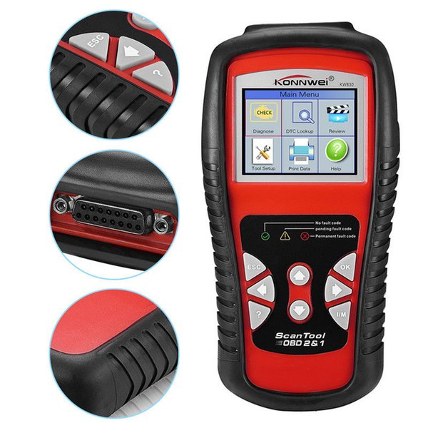 KONNWEI KW830 OBD2/ EOBD Car Diagnostics Auto Scanner Automotive Fault Code Reader Diagnostic tool Car detector Automotive Tool