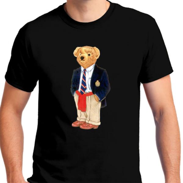 Ralph09889 Lauren Polo Bear camiseta negra de los hombres camiseta 2019 camiseta de la manera Camisetas al por mayor baratas camiseta barata del envío libre