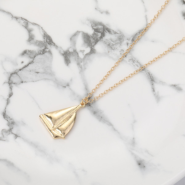 10pcs Solid Sail Boat Ship Craft Pendant Necklace Sailing Vessel Yacht Charm Jewelry Necklace for Gift