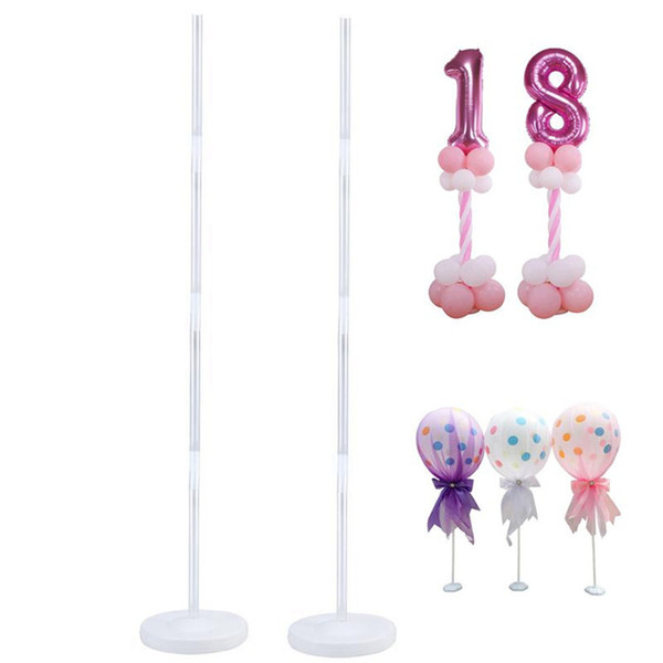 4pcs creative Balloon road lead Column Stand Kits decorative bracket Stand With Frame Base And Pole For Wedding Party Decoration