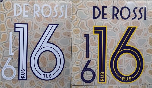 2019-2020 à la maison DE DE ROSSI # 16 badge nominatif