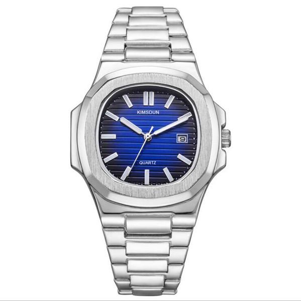 Mode Explosif Mode Hommes Montres Sports de loisirs Montres en acier inoxydable avec montres pour hommes Calendrier Nightlight Sports Quartz