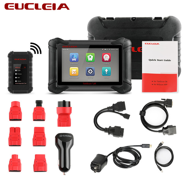 EUCLEIA S8 OBD2 Scanner All System Auto Diagnostic Tool ECU Coding And J2534 PDU Programming ODB2 Automotive Scanner