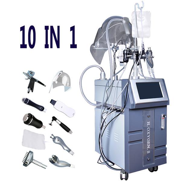 2019 Best Oxygen Jet Machine Skin Deeply Cleansing Moistured Detoxifying Hyperbaric Oxygen Facial Infusion Beauty Salon Spa Equipment