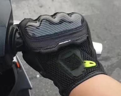 SMX-1 Air Mesh Short Cuff Mesh Leather Gloves for Street Motorcycle Riding Racing Motorbike - Black/Yellow