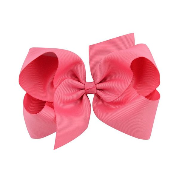 30colors 6inch Infant hairbows Ribbon bow hair clip Baby girls hairclip Girls Boutique Handmade Hair Bow Bowknot Hairpins Barrettes