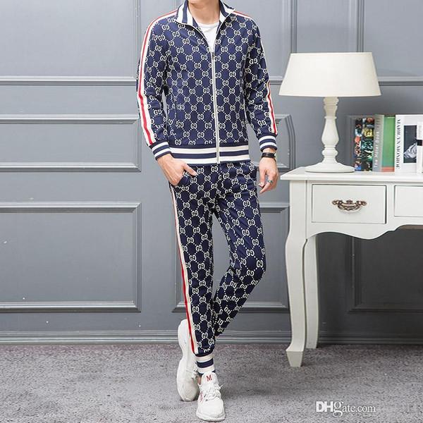 Hot Sport Brand Men's Women's Tracksuits Side Stripe Long Sleeve Hooded Jackets Pants Jogger Sportswear for Men Sport Suit