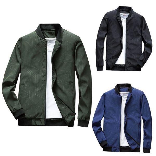 Primavera Outono Homens Jaqueta casaco Solteiros Gola de Negócios Casuais portátil zipper sólido outwear Motocicleta masculina clothing