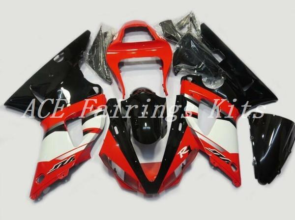 3 regalos gratis Alta calidad Nueva carenados de motocicleta ABS aptos para YAMAHA YZF R1 2000 2001 YZF1000 R1 00 01 1000 kits de carenado personalizados negro rojo