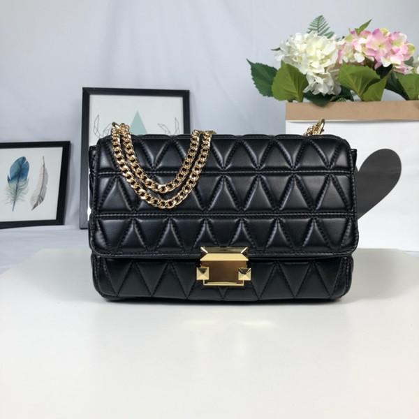 Color black red Genuine Leather Single Shoulder Messenger Handbag Fashion Design Woman Package Hand Bill Of Lading Bags Free shipping