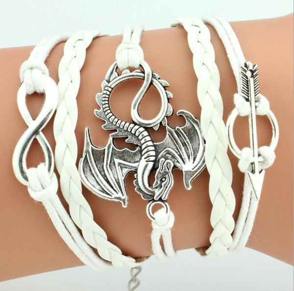 Multi Layer Bracelets Flying Dragon Bracelets Woven Bracelets Fashion Jewelry Bangle Wax Line Men Woman Charm Silver Creative Trend Handmade