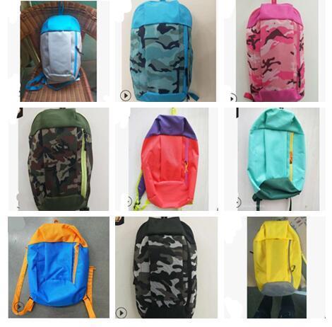 top popular 19 Colors Outdoor Sports Backpack Leisure Women Summer Tourist Children School Shoulder Backpack Portable Sport Outdoor Bags #SJ02 2019