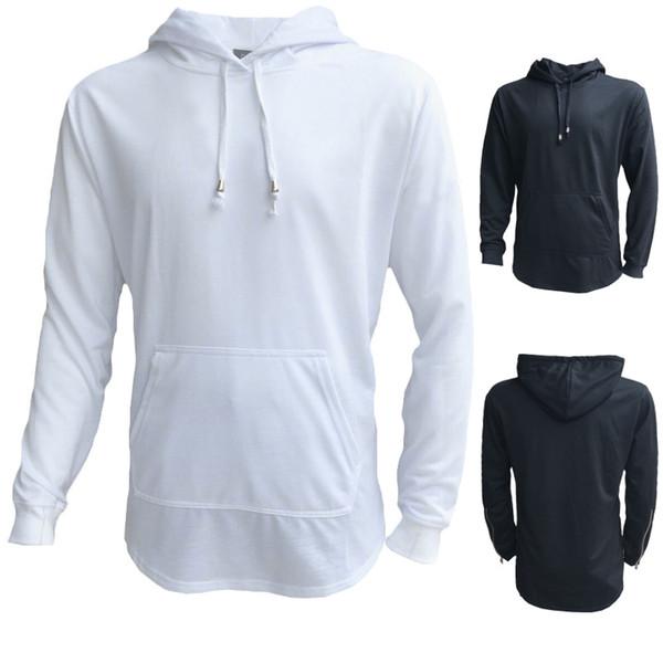 Tasarımcı stil ERKEKLER hoodies fermuar ile harajuku katı erkek hoodies ve tişörtü hip hop giyim streetwear kazak