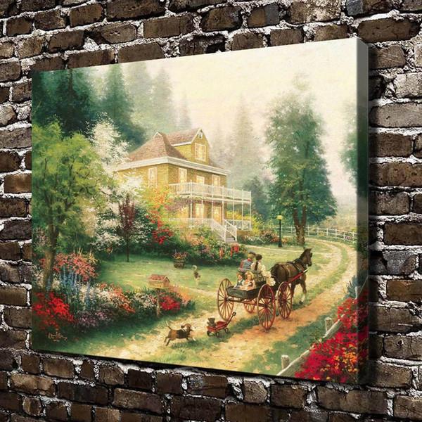 Domingo en Apple Hill, decoración para el hogar, pintura de arte moderno impresa en HD sobre lienzo (sin marco / enmarcada)