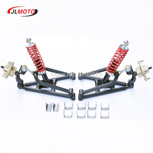 1set Suspension avant bras oscillant supérieur / inférieur Bras de direction Strut Knuckle avec Fuseaux Disque de frein Whee moyeux Fit pour le bricolage Pièces VTT