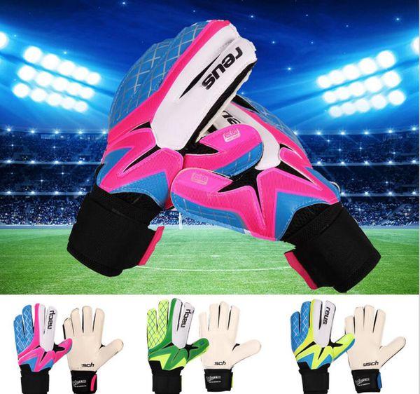 top popular Size5 6 7 8 9 10 Men& Chiildren Sports Gloves Kids Goalkeeper Gloves Antiskid Goalkeeper Gloves Luva De Goleiro Wholesale 2021