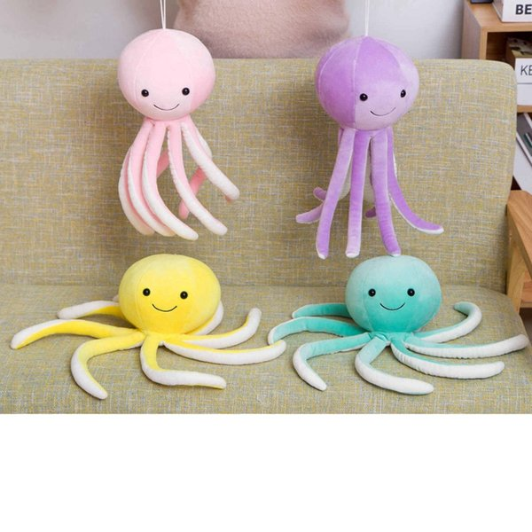 30cm Colorful Cute Octopus Plush Toys Soft Cartoon Animal Octopus Stuffed Doll Window Pendant Bedroom Decoration Kids Best Gifts