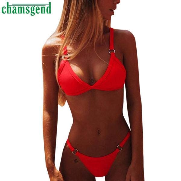 CHAMSGEND hot Bra Set Bandage Cross Belt Hollow Bra 2019 summer Sexy Lingerie Intimates Ladies Underwear And Panty Set #30