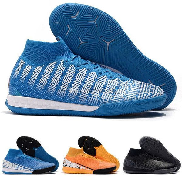 arrival mens soccer shoes neymar indoor soccer cleats Outdoor Mercurial Superfly 7 VII 360 Elite IC TF football boots cr7 Ronaldo