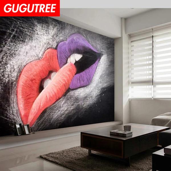 Acheter Decorer La Maison 3d Mural Kiss Dessin Anime Art Sticker Mural Decoration Stickers Peinture Murale Amovible Decor Papier Peint G 2467 De