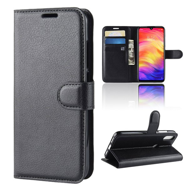 Личи шаблон флип PU кожаный бумажник чехол для телефона Xiaomi Redmi Note7 Примечание 7 личи зерна крышка