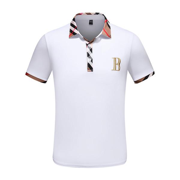 Camicia di polo a maniche corte degli uomini classici del marchio di moda 2019 a maniche corte t-shirt a maniche corte Polo ape camicia da uomo a maniche corte di marca B api
