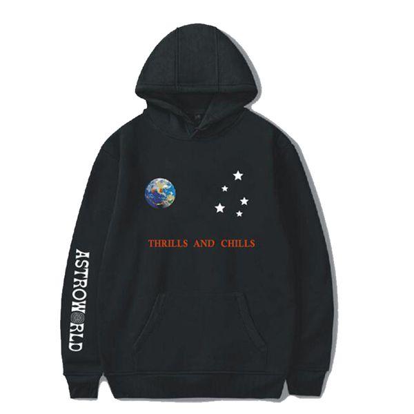 Astroworld Hoodies Streetwear Autumn Winter Casual Long Sleeve Fashion Hip Hop Black Designer Hoodies Size S-4XL