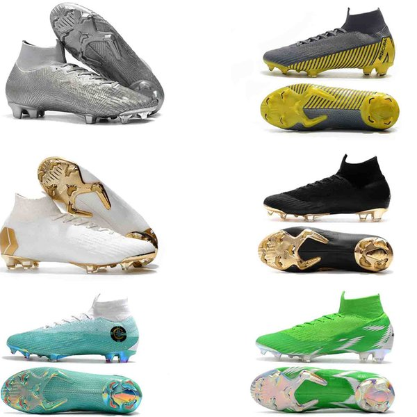 2019 Mercurial Superfly V 360 Elite FG39-45 Football Boots Neymar CR7 Soccer Shoes Ronaldo Soccer Cleats Ankle-High Shoes