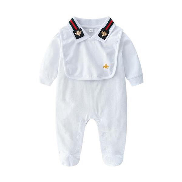 Vendita al dettaglio di nuova moda in cotone 100% Baby Boys Girls pagliaccetto manica lunga salto 2 pezzi set Playsuit Little Boy Girls Outfit Baby Pagliaccetti Vestiti