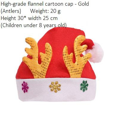 Child Flannel Antlers Gold