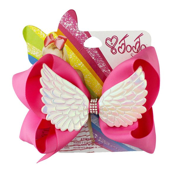 jojo siwa bows girls hair clips 6inch angel's wings jojo siwa hair bows kids barrettes designer hair accessories for kids hairclips A5946