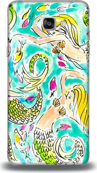For samsung case mermaid dance dynamics j7 prime pattern leather case ship from turkey HB-000849466