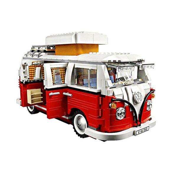 top popular New 1354Pcs Compatible with inglys Technic Series Volkswagen T1 Camper Van Model Building Blocks Kits Set Bricks Toys 2020