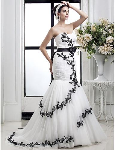 Robes de mariée sexy style sirène dentelle imprimer sexy conception arrière imprimer noir nouvelle robe de mariée belle robe de mariée Robes De Mariee