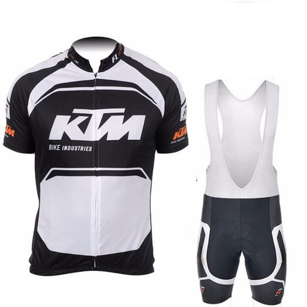 KTM team Cycling Short Sleeves jersey bib shorts sets Ropa Ciclismo Anti Pilling Clothing High Qualiy E0560