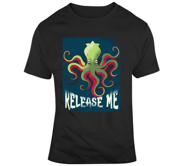 Rilascia la t-shirt Kraken Funny Fishing