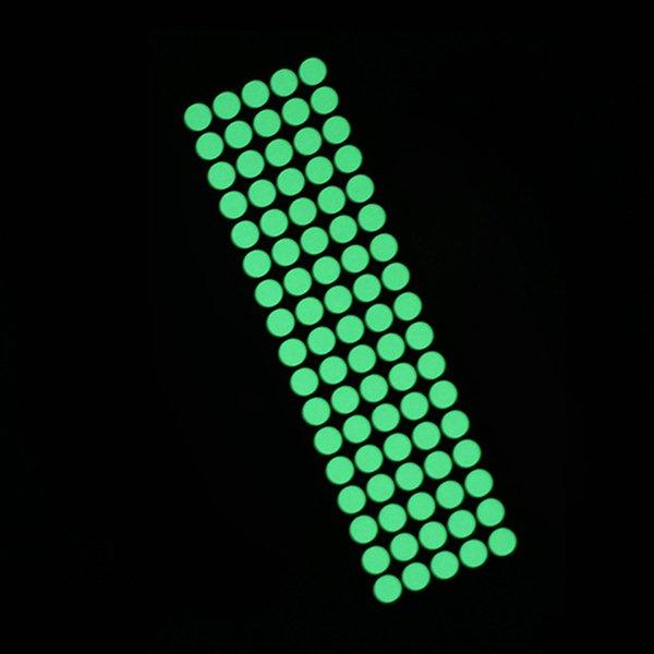 85pcs dots green